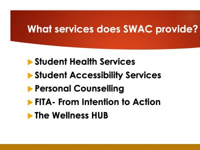 Services provided by SWAC