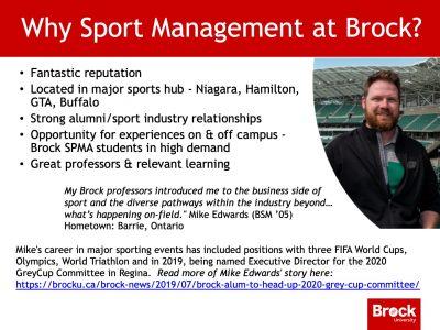 Why choose Sport Management slide