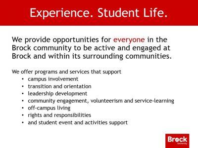 Student Life Slide
