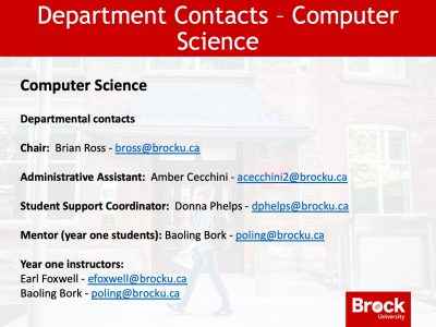 Computer Science contacts slide