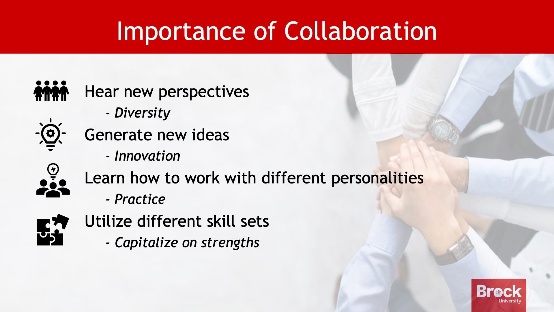 Importance of collaboration