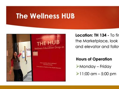 Location and hours of operation for The Wellness HUB