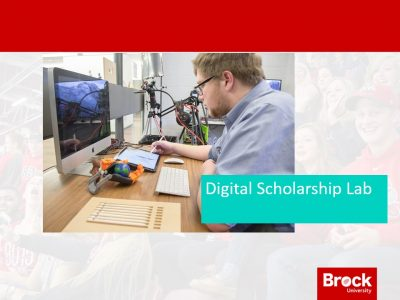 A photo of the Digital Scholarship Lab