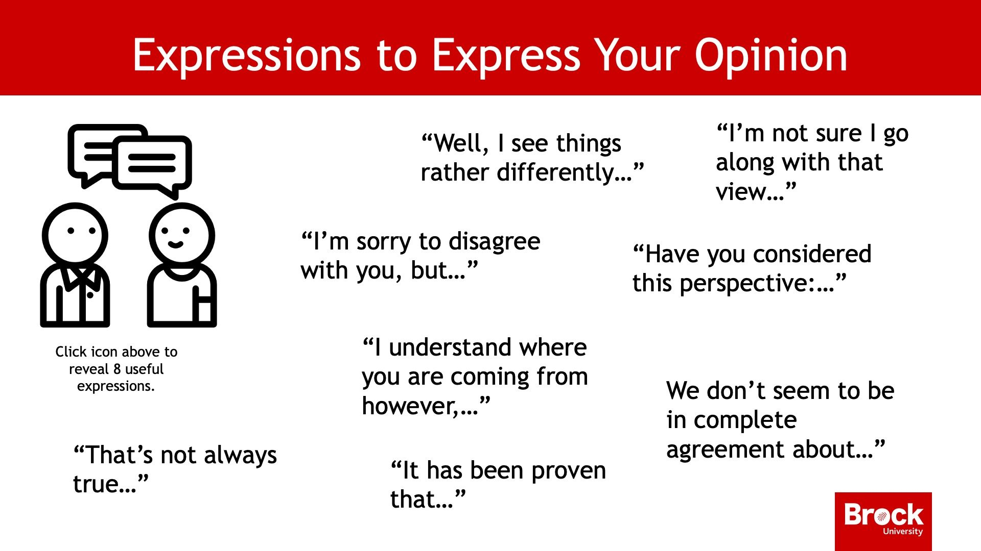Expressions to express your opinion