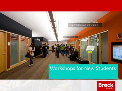 Workshops for new students