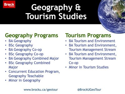 Geography and Tourism Studies Programs Slide