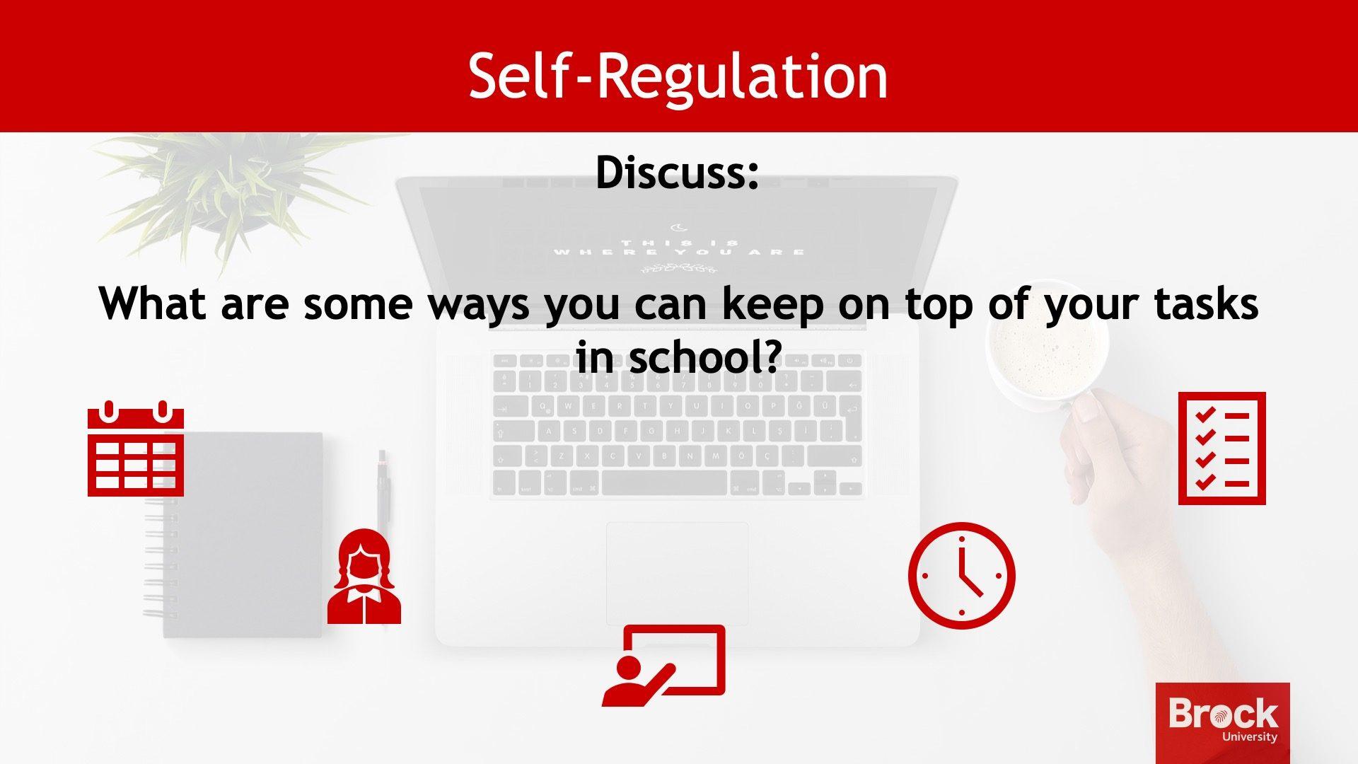 Self-regulation discussion