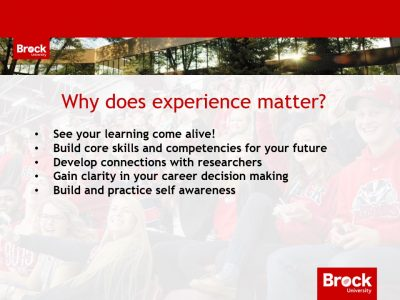 Why does experience matter?
