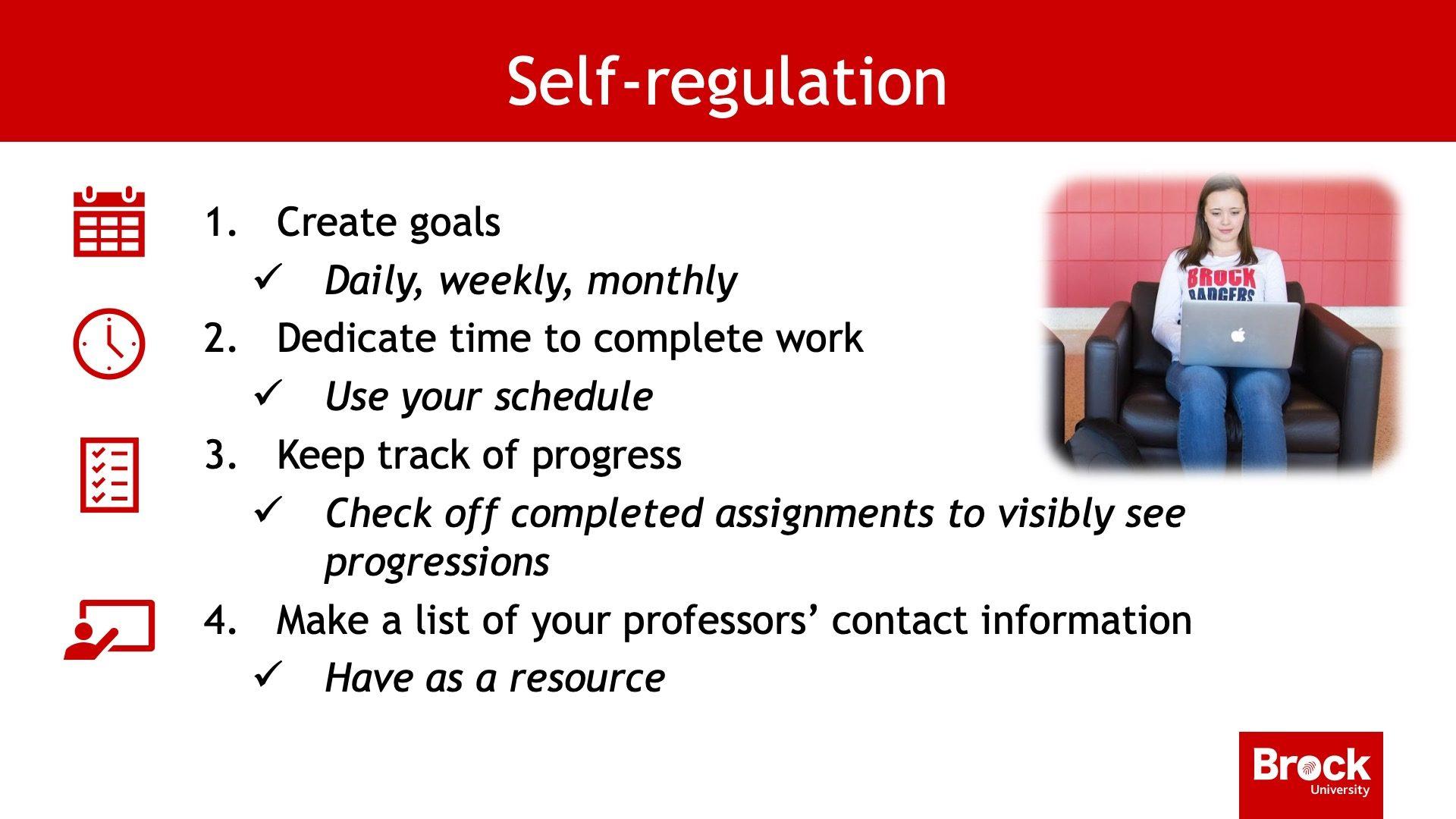 Self-regulation steps