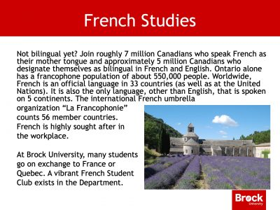French studies description