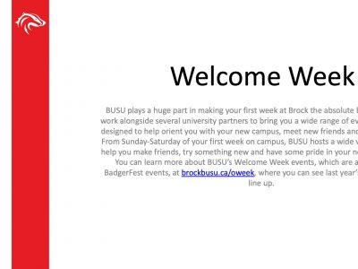 BUSU Welcome Week Slide