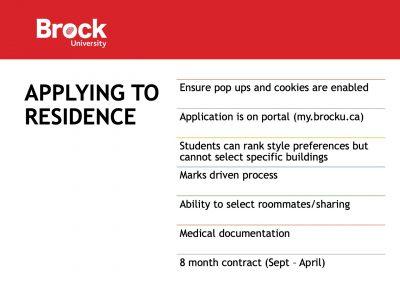 Residence Apply Slide