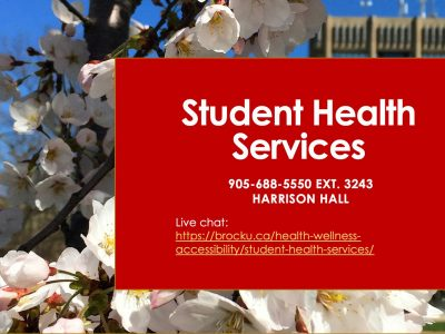 Student Health Services phone and Live Chat