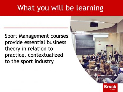 Sport Management lecture hall