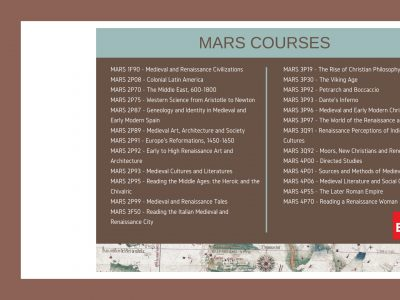 List of all MARS Courses