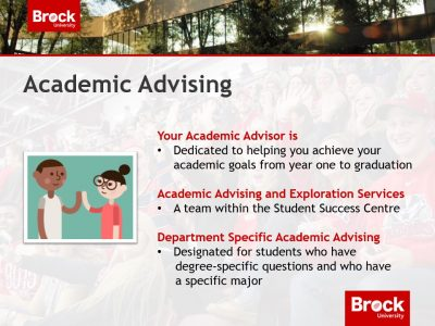 Information on Academic Advising