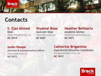 Faculty of Mathematics and Science contacts