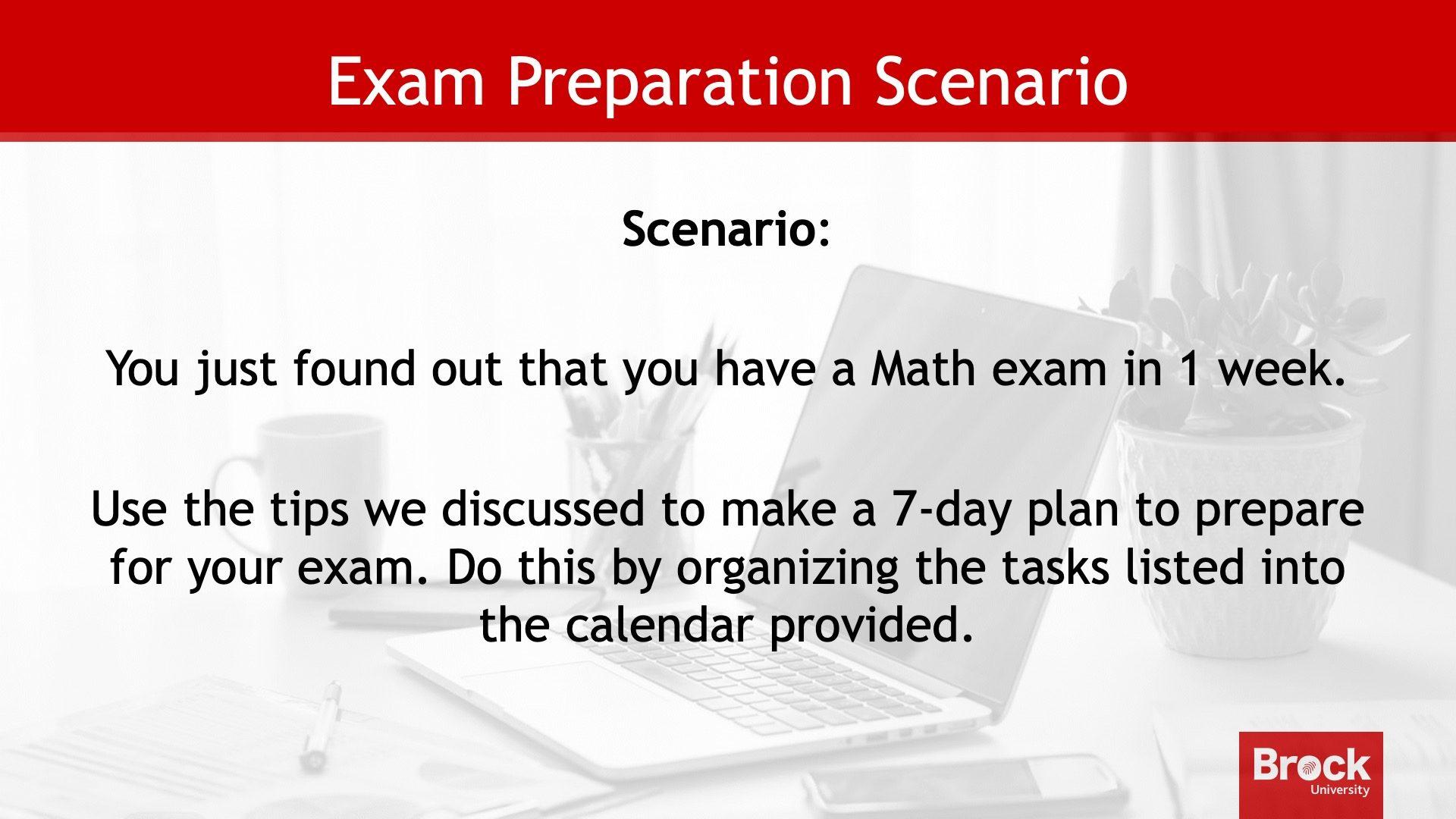 Exam preparation scenario