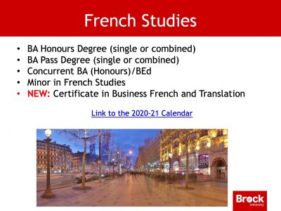 French studies degrees