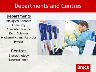 Departments and Centres in the Faculty of Mathematics and Science