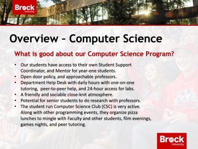Computer Science Overview Slide