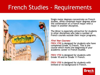 French studies requirements