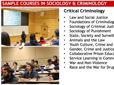 Sociology Sample Courses Slide