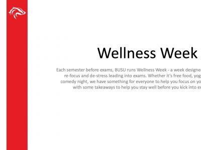 BUSU Wellness Week Slide