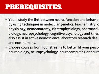 Neuroscience Prerequisites Slide