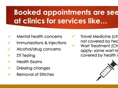 Booked appointment reasons
