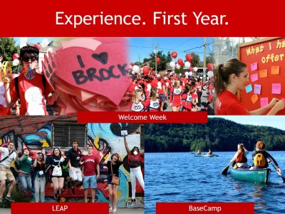 First Year Experience Slide