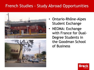 Study abroad opportunities French studies