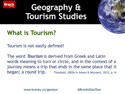 What is Tourism Studies slide
