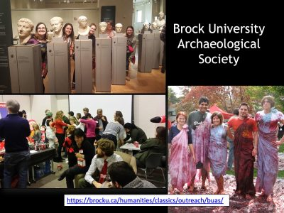 Brock students at various events
