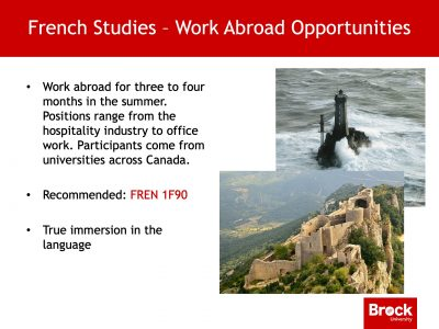 Work abroad opportunities French studies