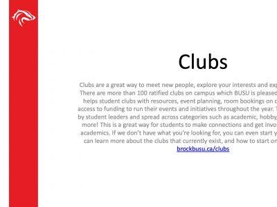 BUSU Clubs Slide