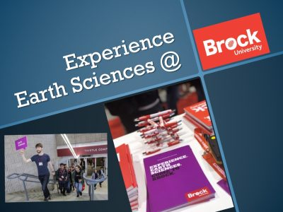 Experience Earth Sciences @ Brock