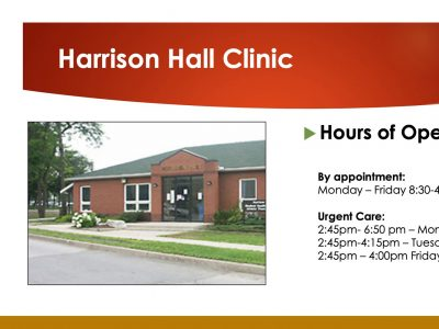 Harrison Hall Clinic hours of operation