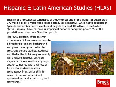 Hispanic and Latin American Studies description