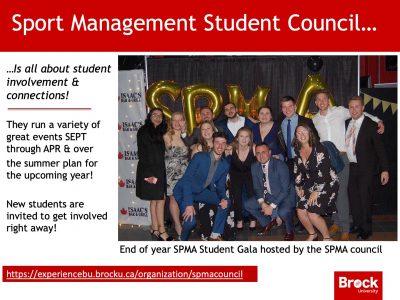 Sport Management Student Council Slide