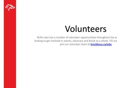BUSU Volunteer Slide