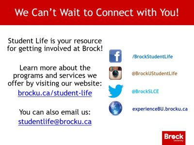 Student Life Connect Slide