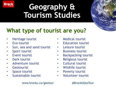 What type of tourist are you slide