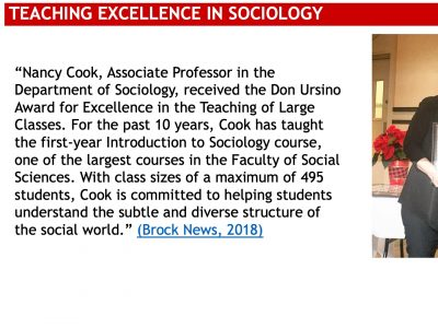 Sociology Teaching Excellence Slide