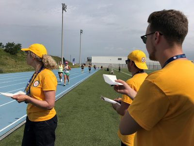 Brock students at track event
