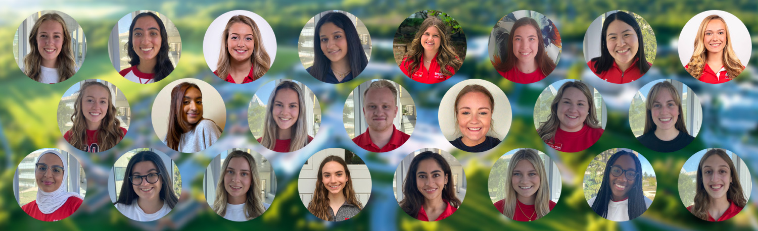 Our Brock Ambassadors for 2021-22