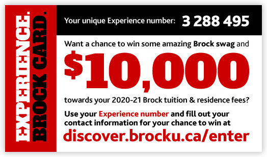 An example of the Experience. Brock Card.