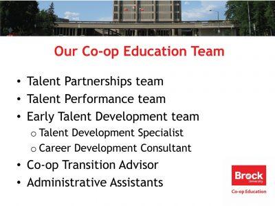 Co-op Education Team Slide