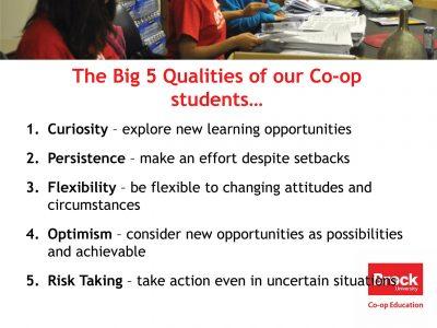 Co-op Student Qualities Slide
