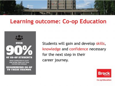 Co-op Learning Outcome Slide
